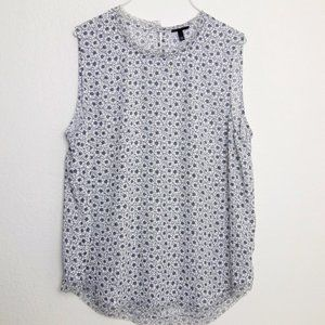 Who What Wear Sleeveless sheer top Floral XXL